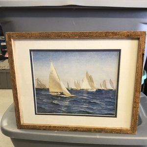 """The Race"" Sailboat Picture"